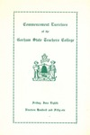 Gorham State Teachers College Commencement Program 1956