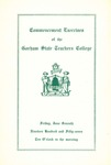 Gorham State Teachers College Commencement Program 1957