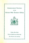 Gorham State Teachers College Commencement Program 1958