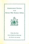 Gorham State Teachers College Commencement Program 1958 by Gorham State Teachers College