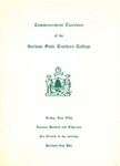 Gorham State Teachers College Commencement Program 1959