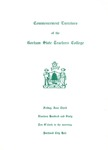 Gorham State Teachers College Commencement Program 1960 by Gorham State Teachers College