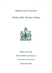 Gorham State Teachers College Commencement Program 1961