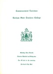 Gorham State Teachers College Commencement Program 1962 by Gorham State Teachers College