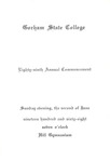 Gorham State College Commencement Program 1968 by Gorham State College