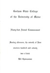 Gorham State College of the University of Maine Commencement Program 1970