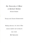 University of Maine Portland- Gorham Commencement Program 1971