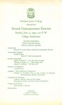 Portland Junior College Commencement Program 1949