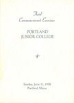 Portland Junior College Commencement Program 1950