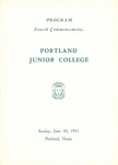 Portland Junior College Commencement Program 1951