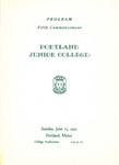 Portland Junior College Commencement Program 1952