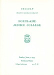 Portland Junior College Commencement Program 1953