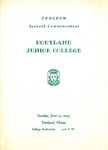 Portland Junior College Commencement Program 1954