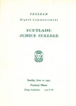 Portland Junior College Commencement Program 1955