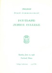 Portland Junior College Commencement Program 1956