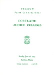 Portland Junior College Commencement Program 1957