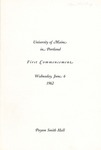 University of Maine in Portland Commencement Program 1962 by University of Maine in Portland