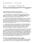 Common Circle for Human Rights, Vol.1, No.4 (May 1997)