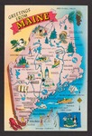 Greetings from Maine Postcard by none