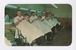 Navy Exchange Barber Shop Postcard