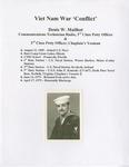Section Header - Viet Nam War 'Conflict' - Denis W. Mailhot