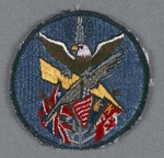 Eagle Clutching Feather and Lightning Bolt with Flags and Radio Tower Patch by none