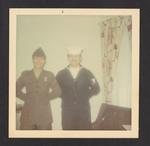 Denis Mailhot in Uniform with Uniformed Soldier