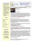 Educational Leadership Program Newsletter November/December 2011