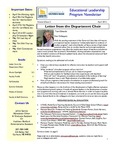 Educational Leadership Program Newsletter April 2012