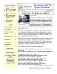 Educational Leadership Program Newsletter December 2012