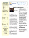 Educational Leadership Program Newsletter December 2010