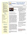 Educational Leadership Program Newsletter February 2011