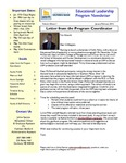 Educational Leadership Program Newsletter January/February 2012