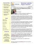 Educational Leadership Program Newsletter May/June 2012