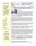 Educational Leadership Program Newsletter October 2012
