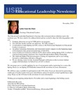 Educational Leadership Newsletter November 2018 by Educational Leadership Department, University of Southern Maine