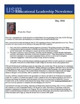 Educational Leadership Newsletter May 2016 by Educational Leadership Department, University of Southern Maine