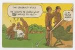"""The General's Stuck"" Postcard by Raymond Dutil"