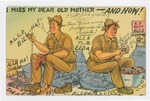 """""""I Miss My Dear Old Mother—And How!"""" Postcard by Elisée A. Dutil"""