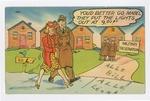 """""""You'd Better Go, Mabel"""" Postcard by Elisée A. Dutil"""