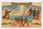 """""""Camp Snapshots"""" Postcard by Elisée A. Dutil"""