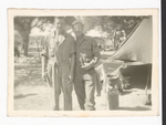 Elisée A. Dutil with Soldier by Tent