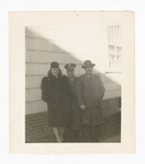 Elisée A. Dutil Standing with Man in Hat and Woman in Coat
