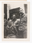 Elisée A. Dutil in Uniform with Other Soldiers in front of the Excelsior Hotel