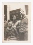 Elisée A. Dutil in Uniform with Other Soldiers in front of the Excelsior Hotel (2)