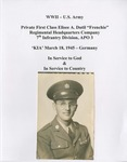 """WWII - U.S. Army - Private First Class Elisee A. Dutil """"Frenchie"""" by Denis Mailhot MPS"""