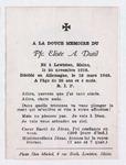Elisée A. Dutil Memorial Notice