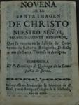 Novena de la santa imagen de Christo… by Domingo de Quiroga