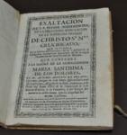 Exaltacion de la Divina Misericordia en la milagrosa renovacion de la soberana imagen de Christo Sr. Nro. crucificado.