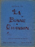 1940 Festival de la Bonne Chanson Program by l'Association des Vigilants